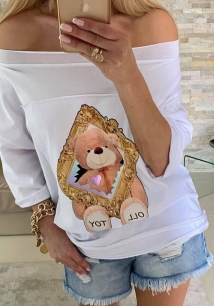BY O LA LA BLUZKA T-SHIRT TOY OLL BIEL