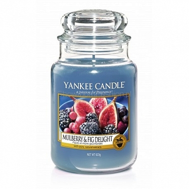 Mulberry & Fig Delight Yankee Candle - duża świeca