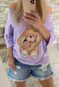 BY O LA LA BLUZKA T-SHIRT TOY OLL VIOLET